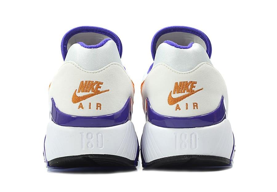 Nike Air Max 180 OG White/Bright Ceramic-Dark Concord 615287-101 (Heel)