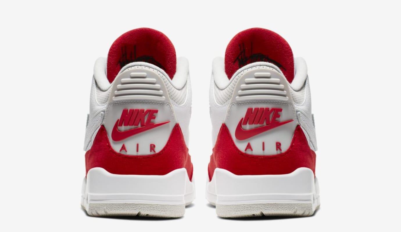 dc9571afa9 Image via Nike Air Jordan 3 Retro Tinker 'White/University Red/Neutral  Grey' (Heel