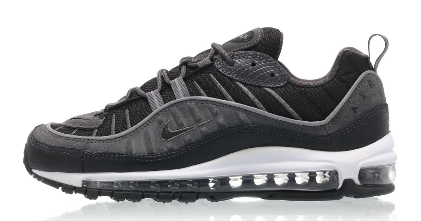 Nike Air Max 98 'Black/Anthracite-Dark Grey-White' AO9380-001 (Lateral)