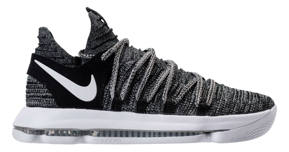 nike kd 10 oreo release date 897815 001 sole collector. Black Bedroom Furniture Sets. Home Design Ideas