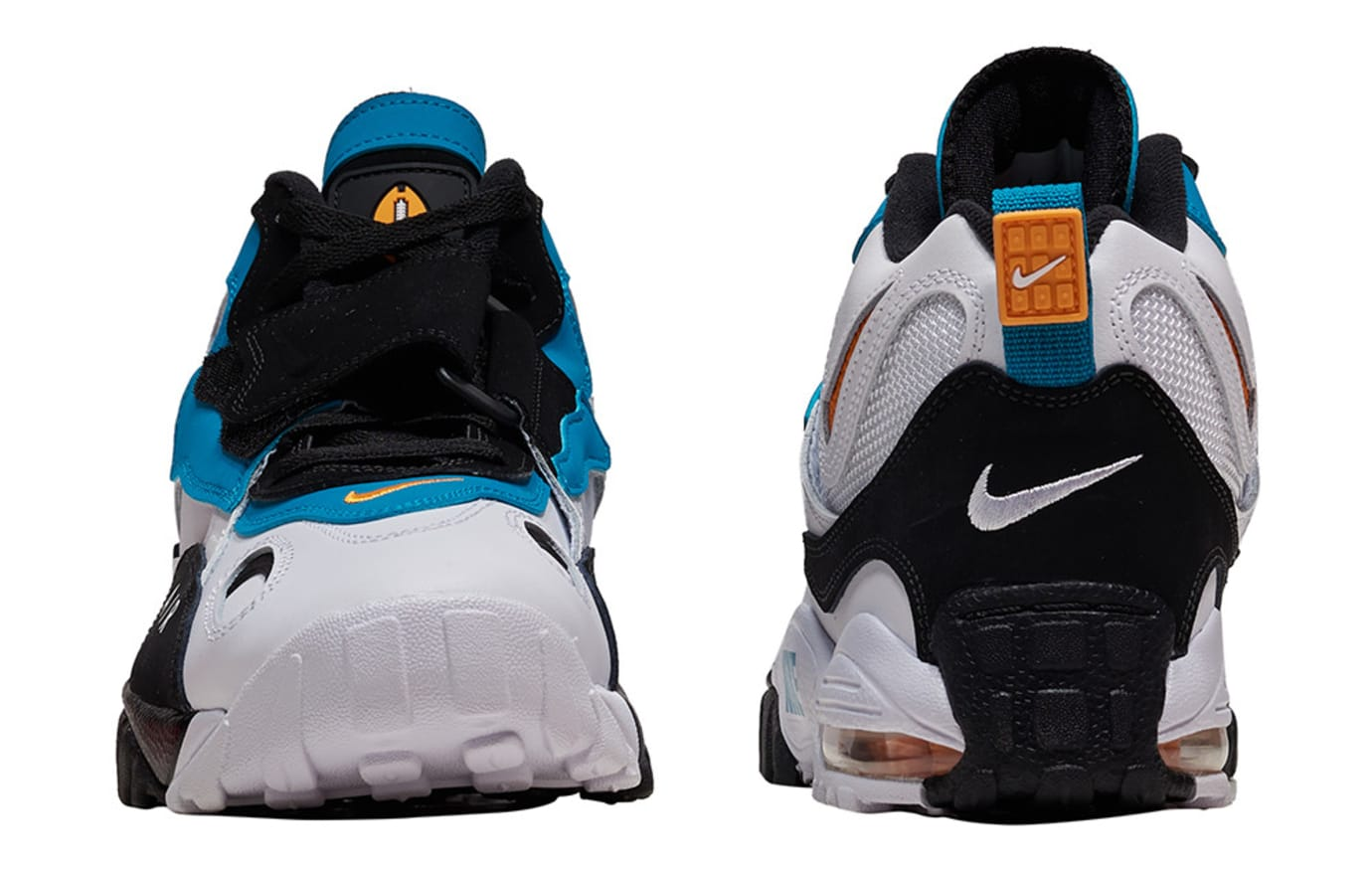 c0e65b057920 Image via Jimmy Jazz Nike Air Max Speed Turf  Dolphins  525225-100 (Front  and Heel)