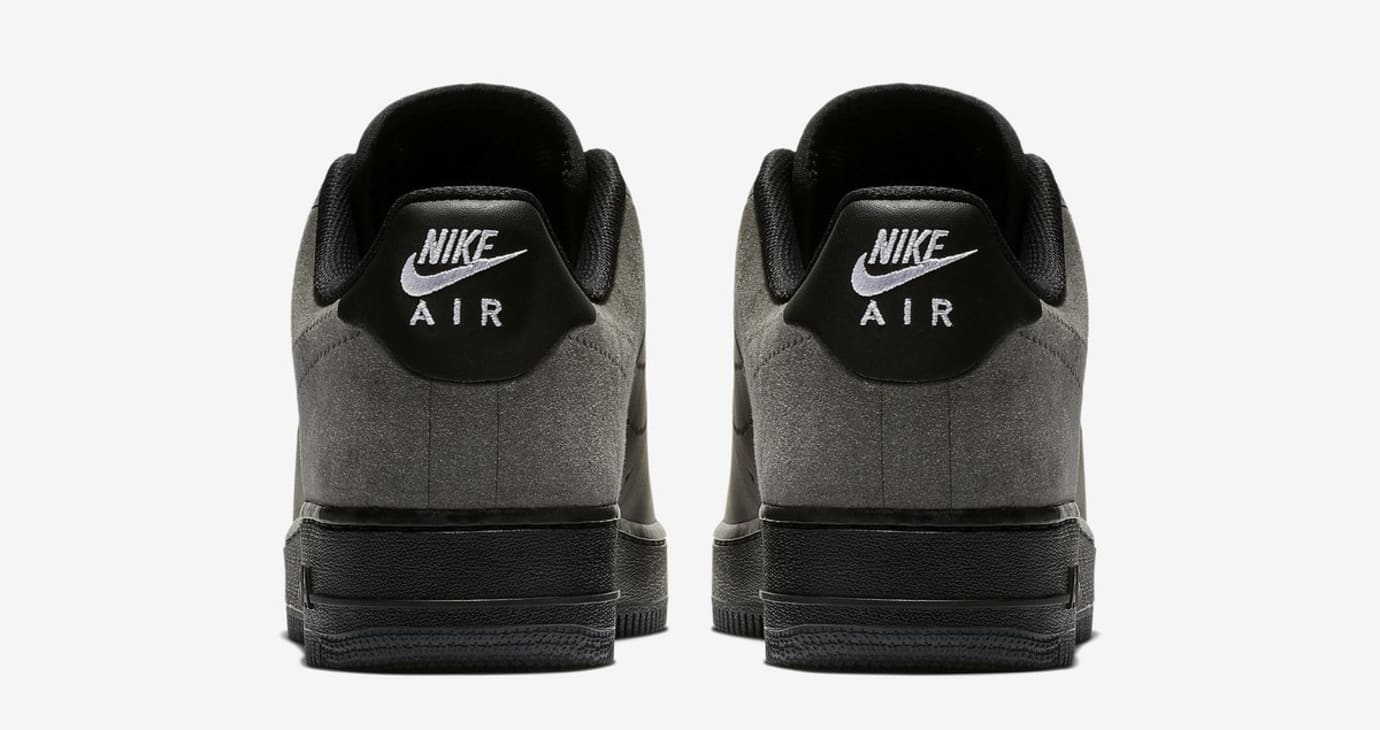A-Cold-Wall* x Nike Air Force 1 Black/Dark Grey/White (Heel)