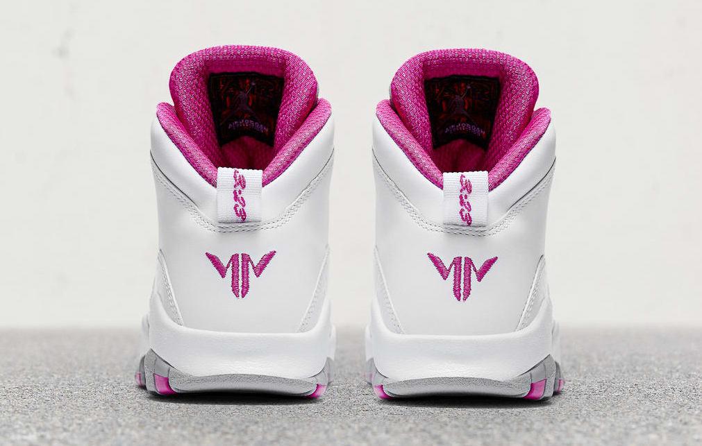 Maya Moore Air Jordan 10 Release Date Heel AA2900-159