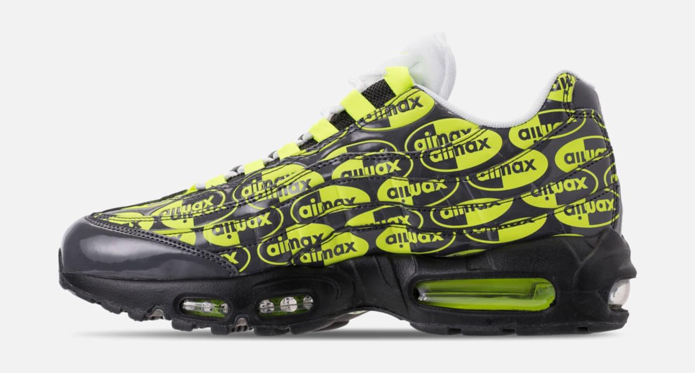 Nike Air Max 95 'Black/Volt/Ash White' 538416-019 (Medial)
