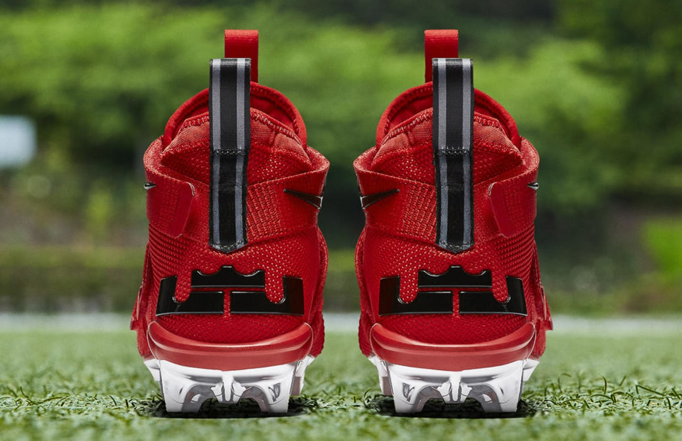 Nike LeBron Soldier 11 Cleats Ohio State Red Release Date AO9146-600 Heel