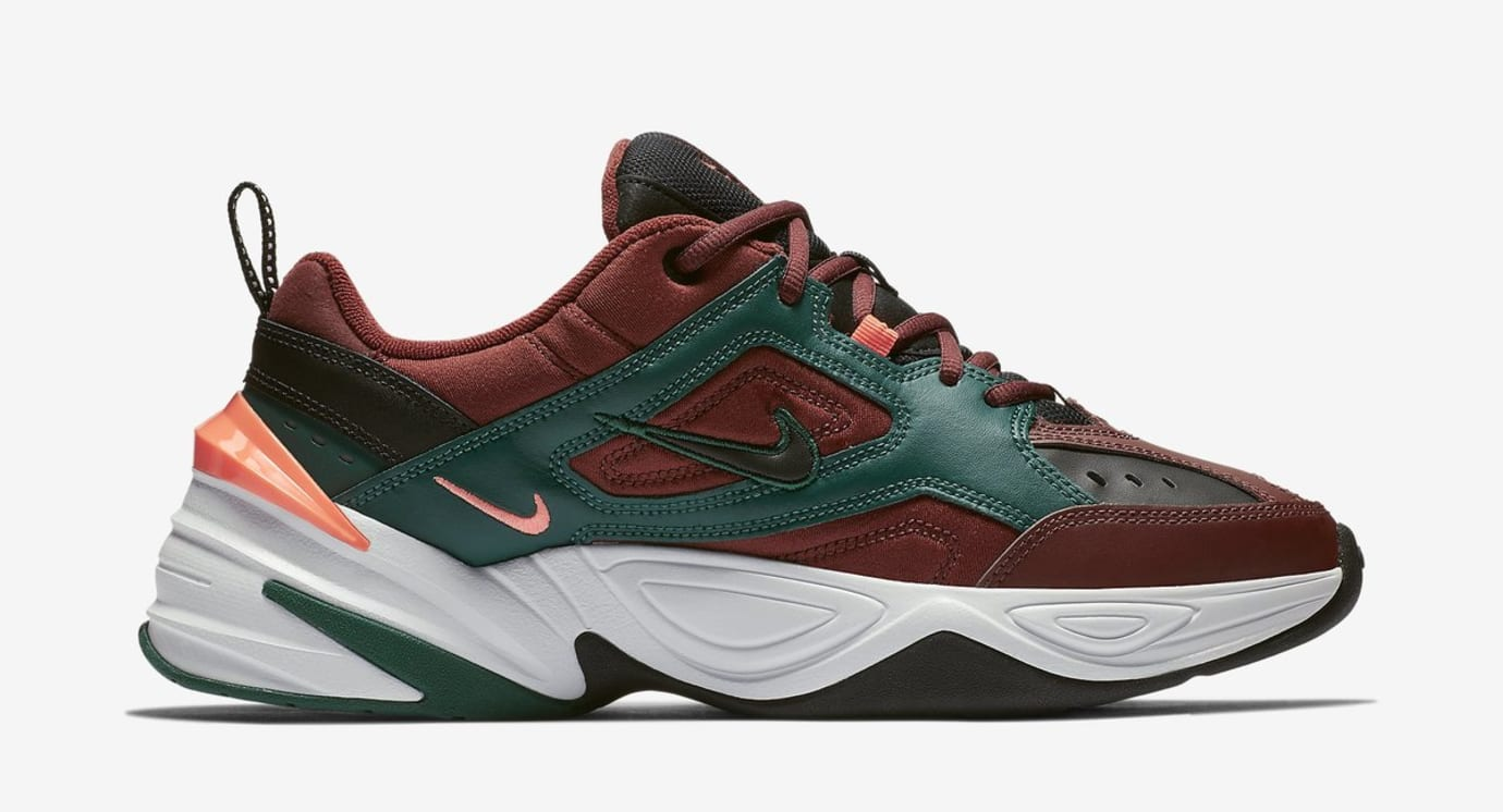Nike M2K Tekno 'Pueblo Brown/Rainforest/Bright Mango/Black' (Lateral)