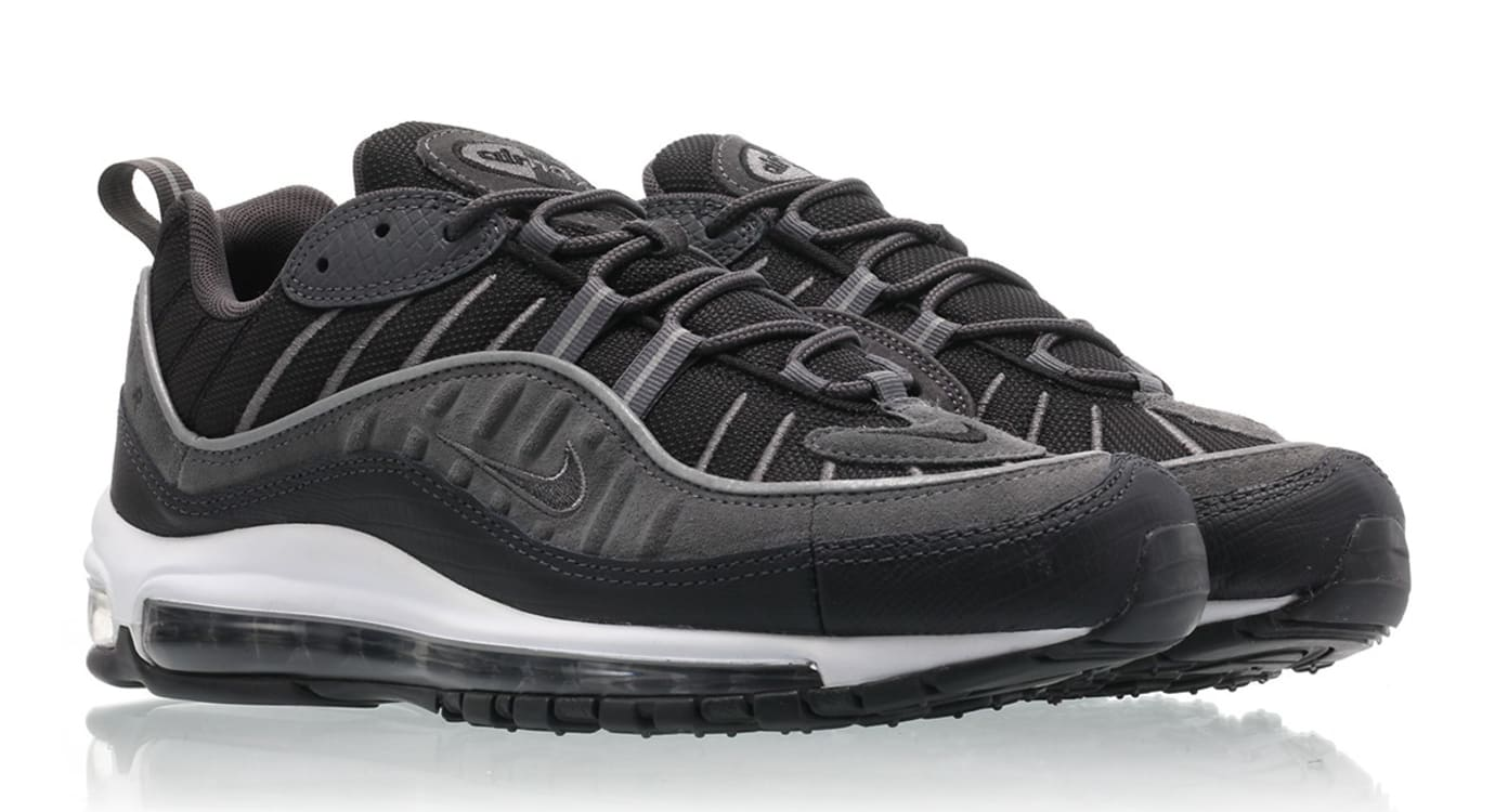 b5cd7cbffb Nike Air Max 98 Black/Anthracite-Dark Grey-White AO9390-001 Release ...