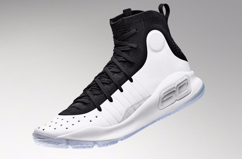 Under Armour Curry 4 Black/White 1298306-007 (Left)