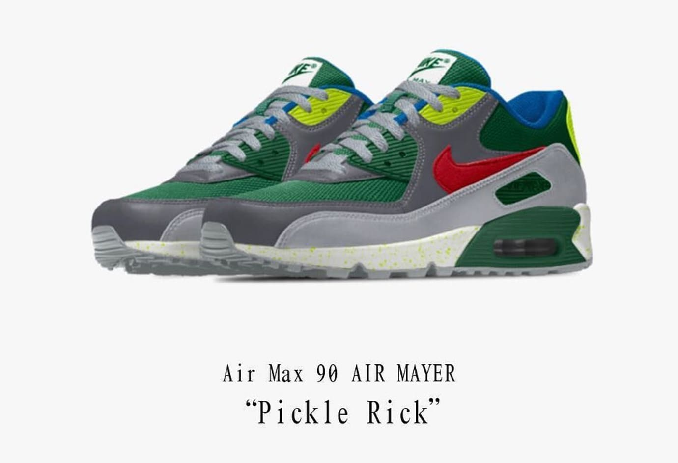 f4140167095 John Mayer Nike Air Max 90 Pickle Rick Sneakers