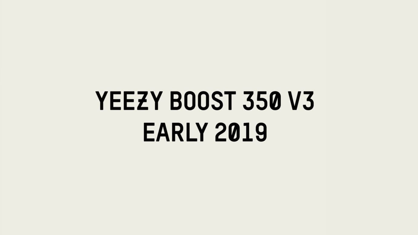 Adidas Yeezy Boost 350 V3 2019 Release Date