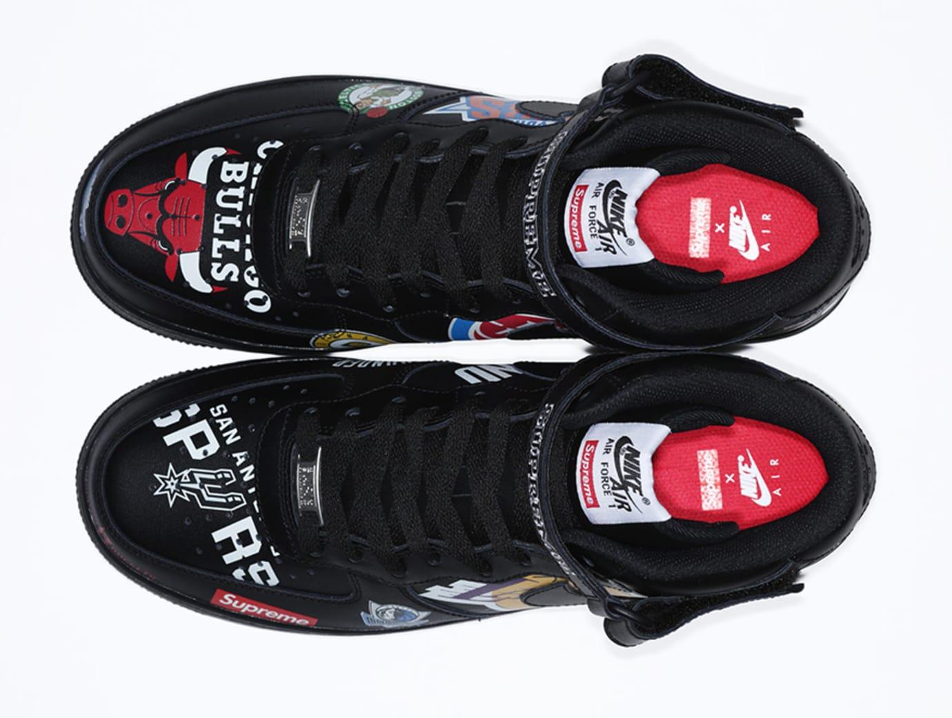 Supreme x Nike x NBA Air Force 1 Mid 'Black' AQ8017-001 (Top)