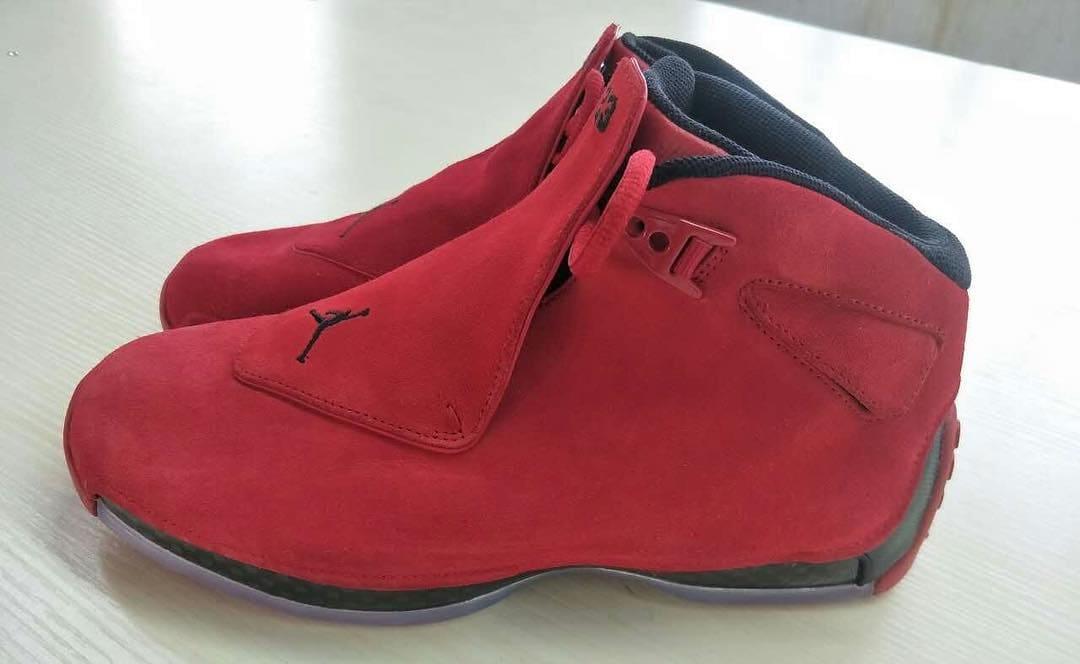 ... wholesale air jordan 18 toro red suede release date aa2494 601 057f5  fd135 1727b0615
