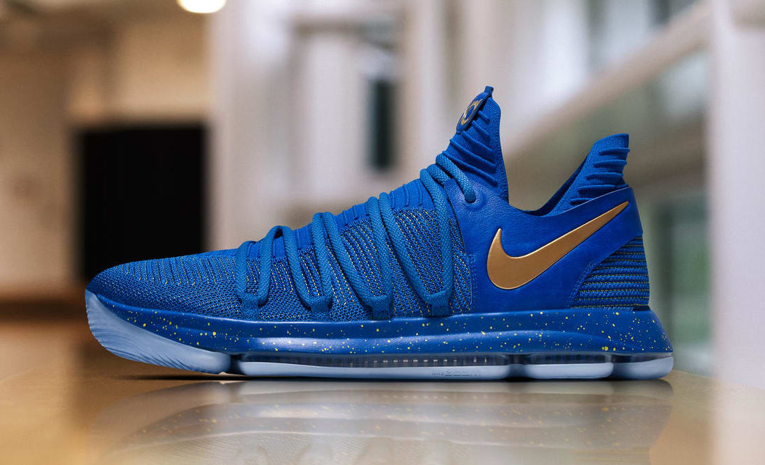 Nike KD 10 Blue Finals PE Profile