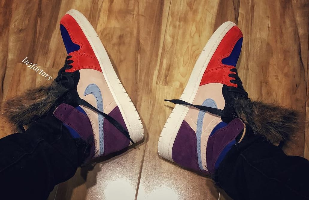 Aleali May x Air Jordan 1 'Viotech' (Medial On-Foot)