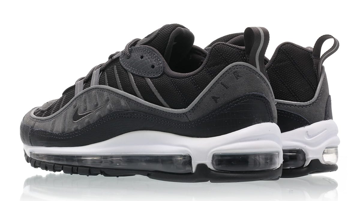 378b855ca554a9 Image via Titolo Nike Air Max 98  Black Anthracite-Dark Grey-White  AO9380-