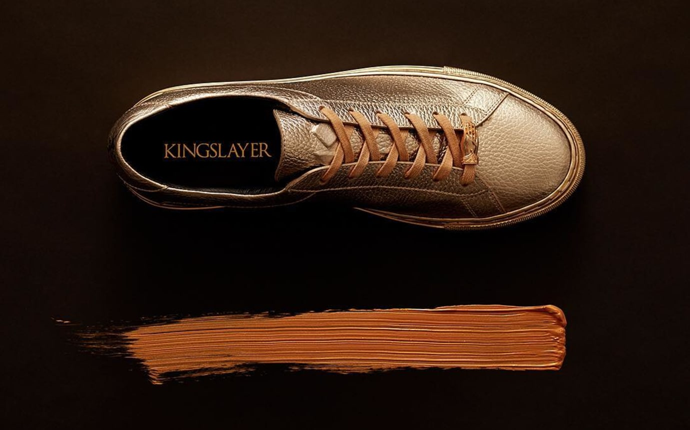 Koio Jamie Lannister Kingslayer Gold Sneakers Top