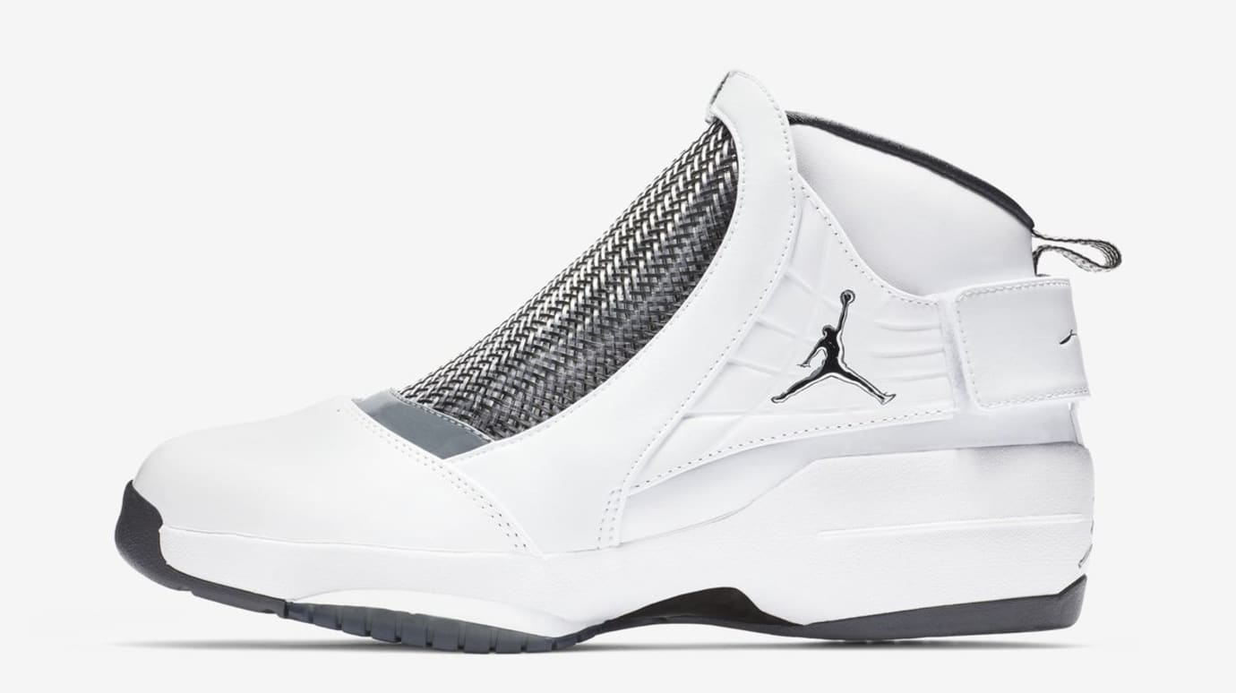 9abee3831703 Air Jordan 19 XIX Retro  White Chrome Flint Grey Black  Release Date ...