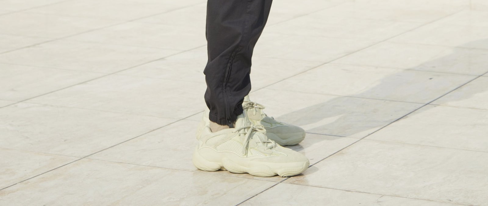 Adidas Yeezy 500 'Super Moon Yellow' (On-Foot Right)