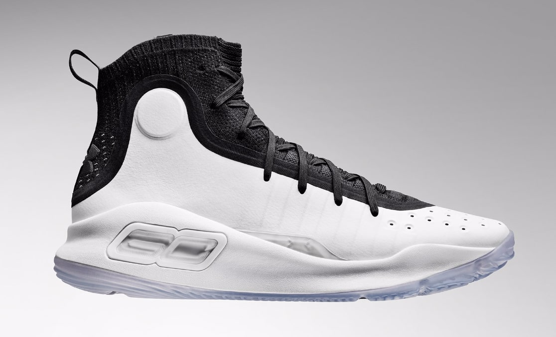 Under Armour Curry 4 Black/White 1298306-007 (Lateral)