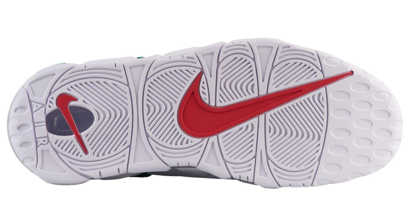 Nike Air More Uptempo 'Italy' University Red/Lucid Green/White (Bottom)