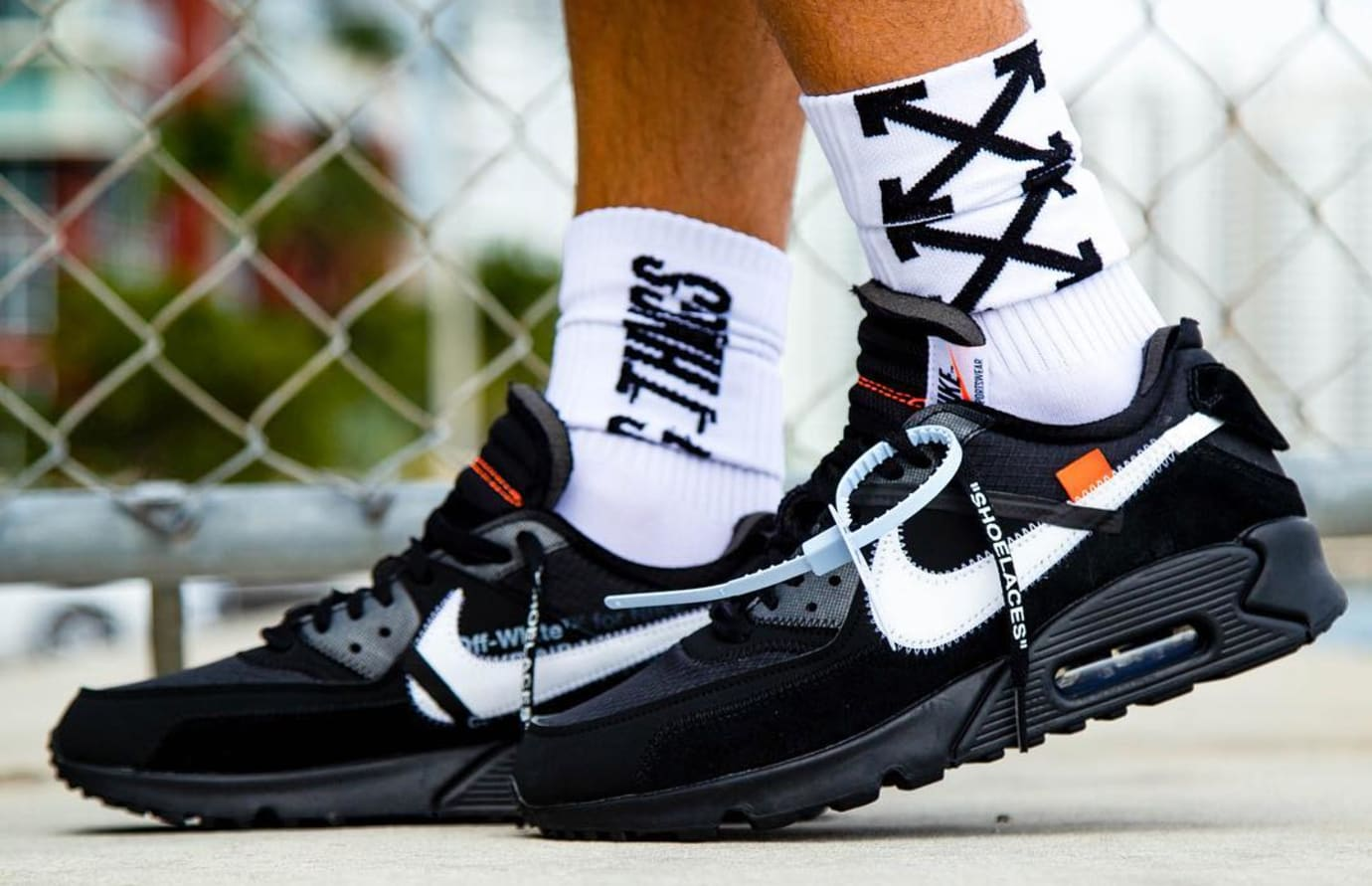 detailed look eda39 7d84a Off-White Nike Air Max 90 Black Cone White AA7293-001 ...
