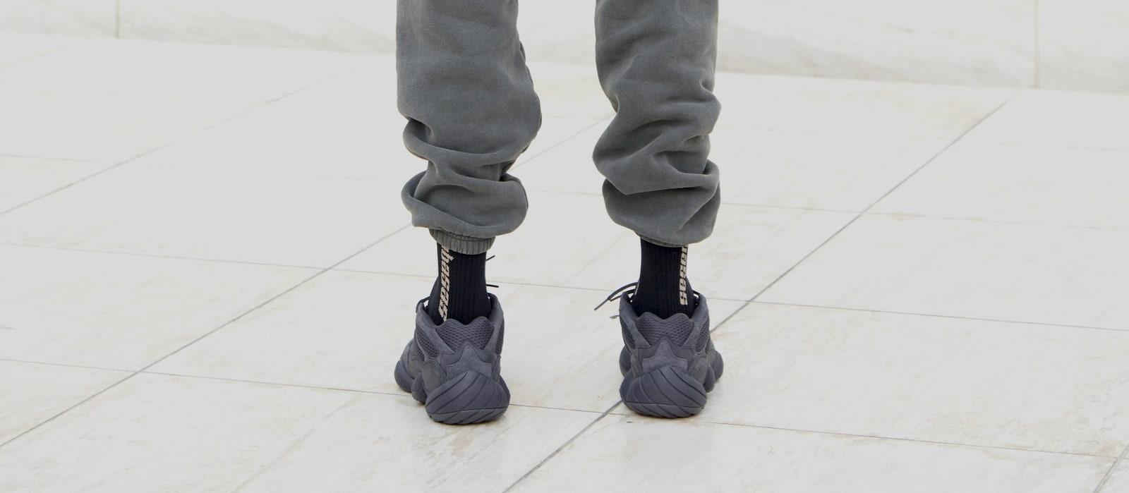 Adidas Yeezy 500 'Black' (On-Foot Heel)