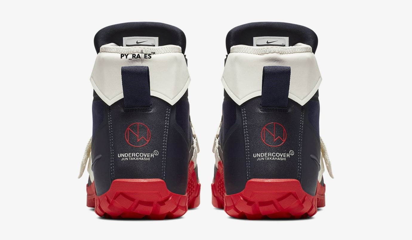 Undercover x Nike SFB Mountain Boot 'Obsidian/University Red' (Heel)