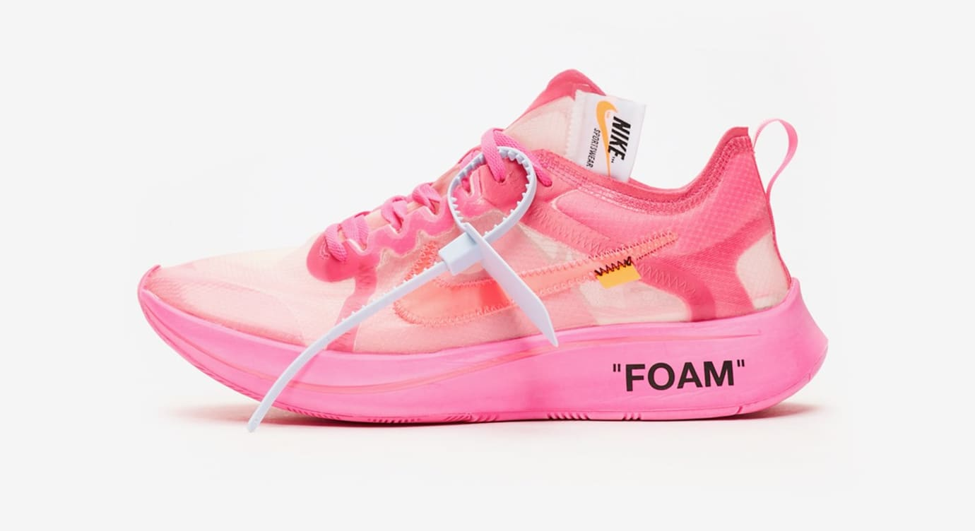 726bb6cd3fbfe Off-White x Nike Zoom Fly SP  Black   Tulip Pink  Release Date ...