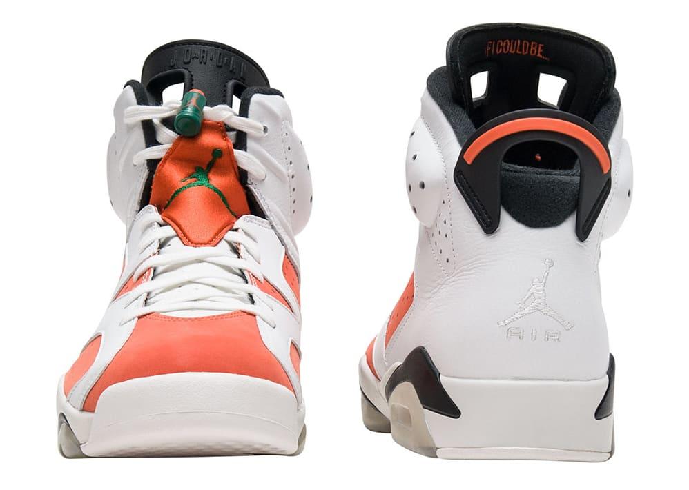 Air Jordan 6 VI Gatorade Release Date Heel 384664-145