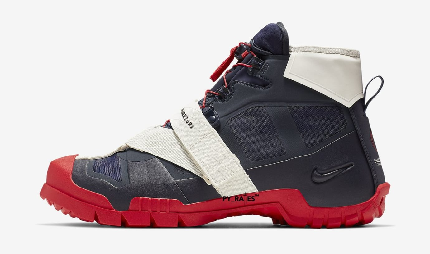 Undercover x Nike SFB Mountain Boot 'Obsidian/University Red' (Lateral)