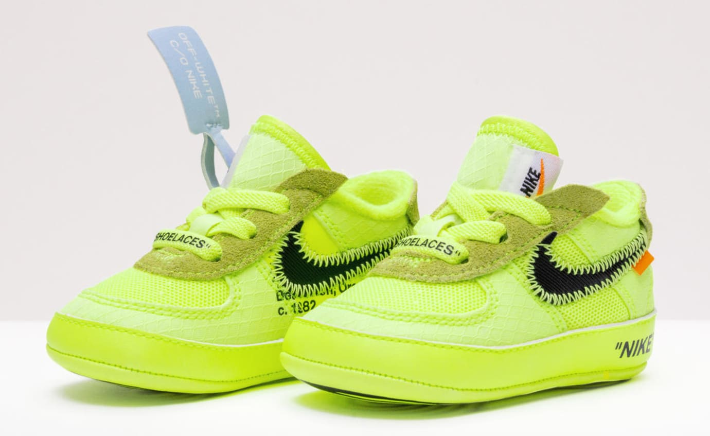 Virgil Abloh x Nike Air Force 1 'The 10' 'Volt/Cone/Hyper Jade' Toddler (Pair)