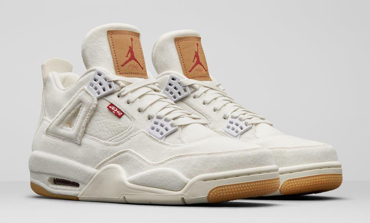 Levi's x Air Jordan 4 'White' AO2571-100 (Pair)