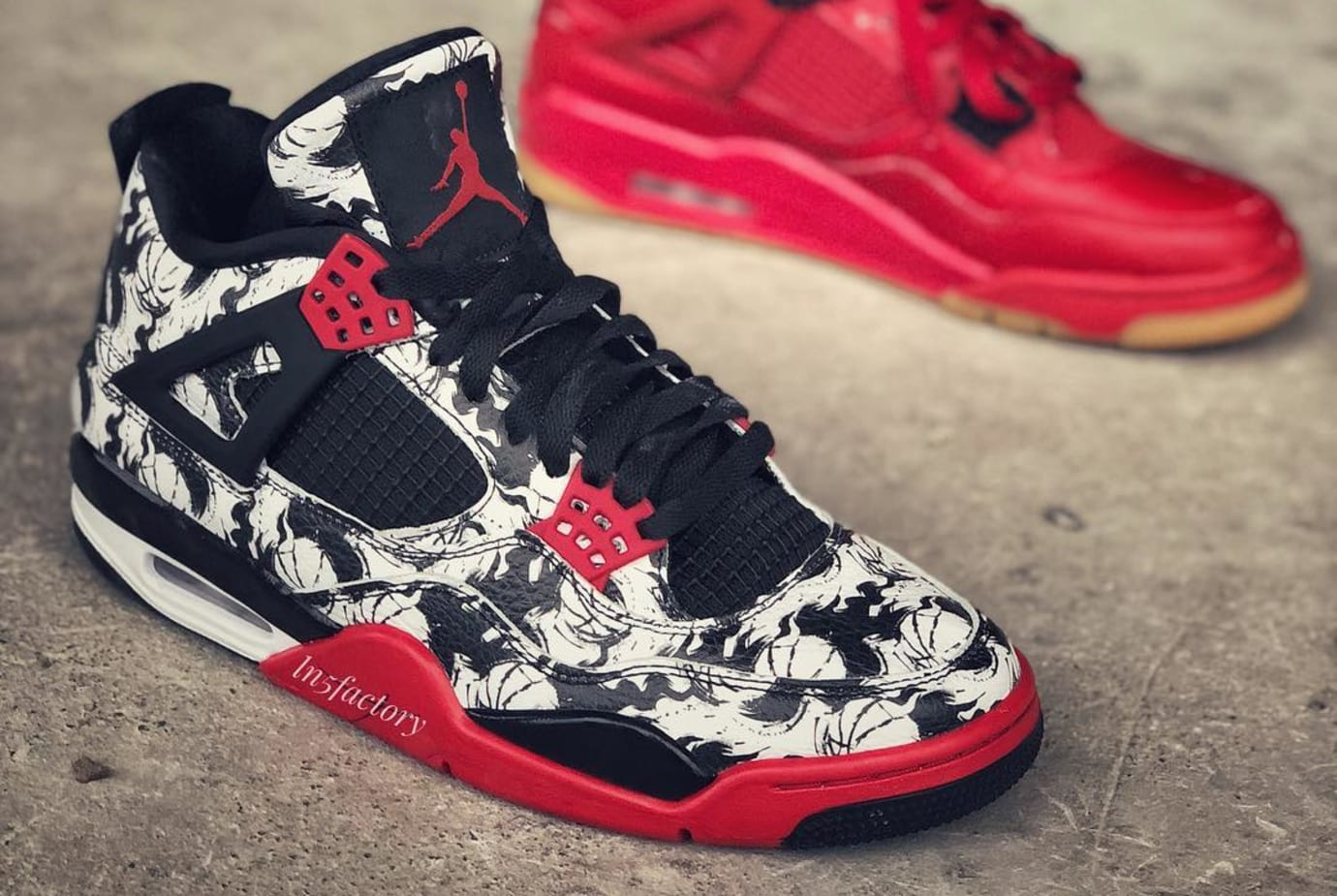 watch c7693 c3e5d Image via ln5factory · air-jordan-4-graphic-print-early-look