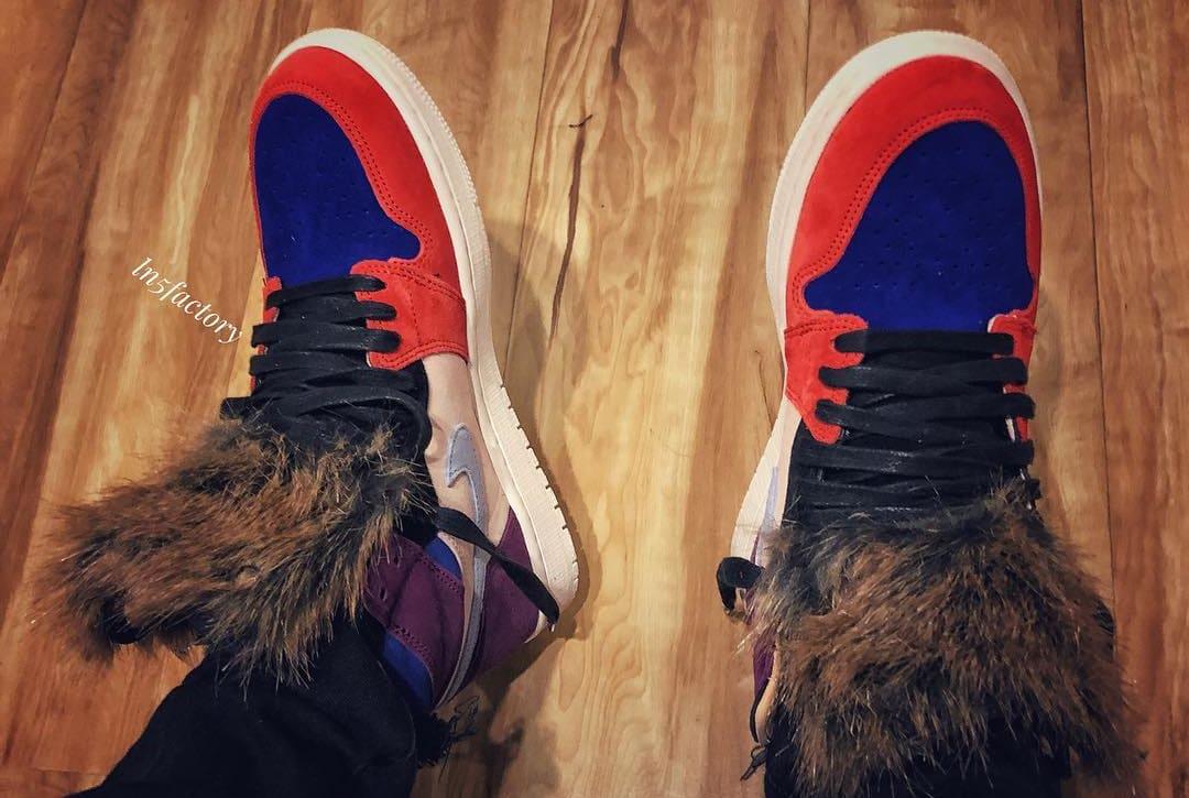 Aleali May x Air Jordan 1 'Viotech' (On-Foot Top)