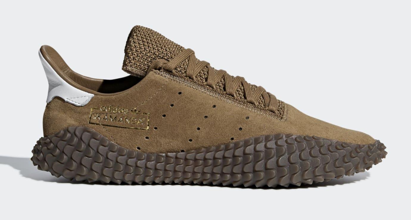 Adidas Kamanda 01 'Brown/Raw Desert/Crystal White' (Lateral)