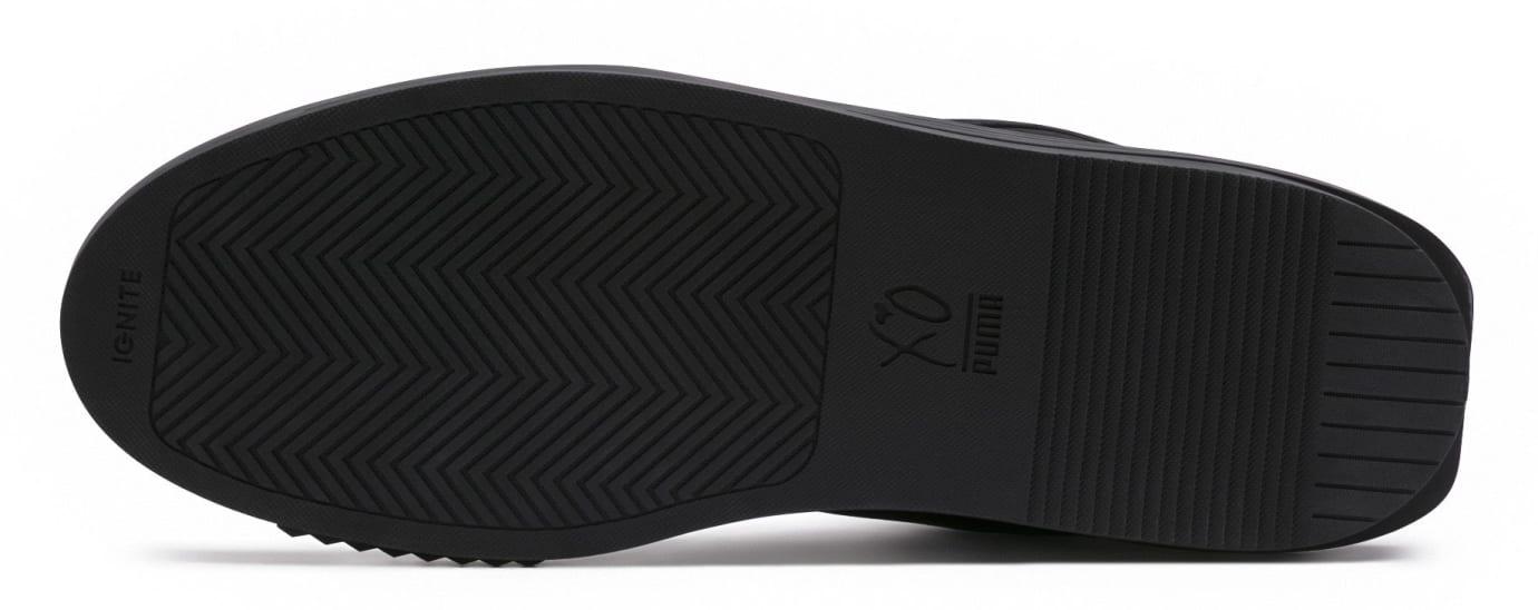 The Weekend Puma XO Parallel Triple Black Release Date 365039-02 Sole