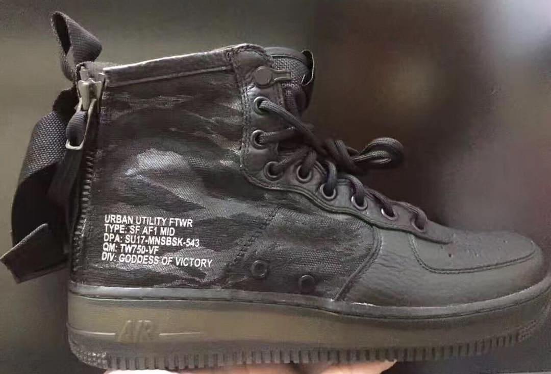 Nike SF Air Force 1 Mid Black Camo