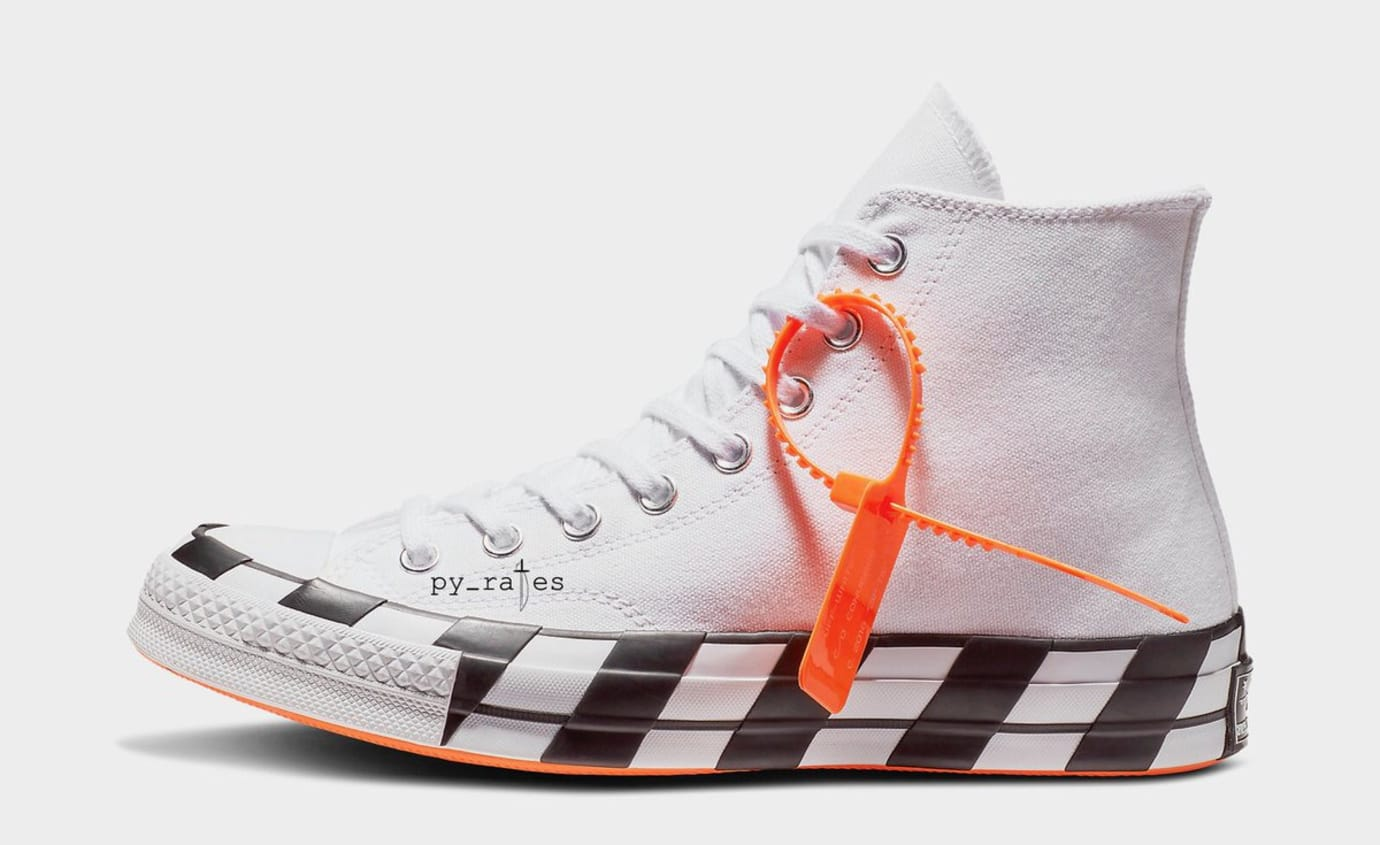 Off-White x Converse Chuck 70 'Striped' (Lateral)