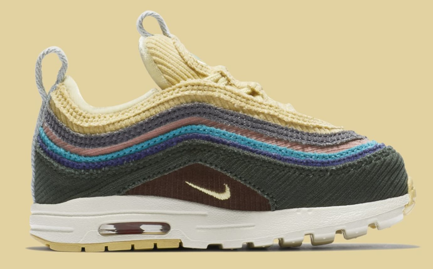 Image via Nike Sean Wotherspoon x Nike Air Max 1 97 Toddler BQ1670-400  (Medial) 4e507688b