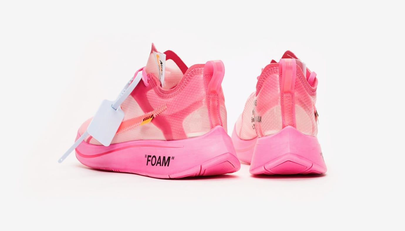 Image via Sneakersnstuff Off-White x Nike Zoom Fly SP AJ4588-600  Tulip Pink  Racer 290990d74