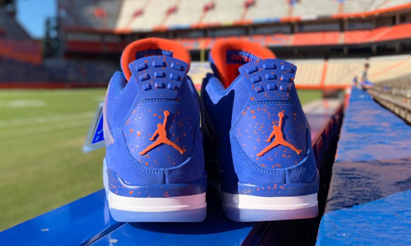 Air Jordan 4 'Florida Gators' PE (Heel)