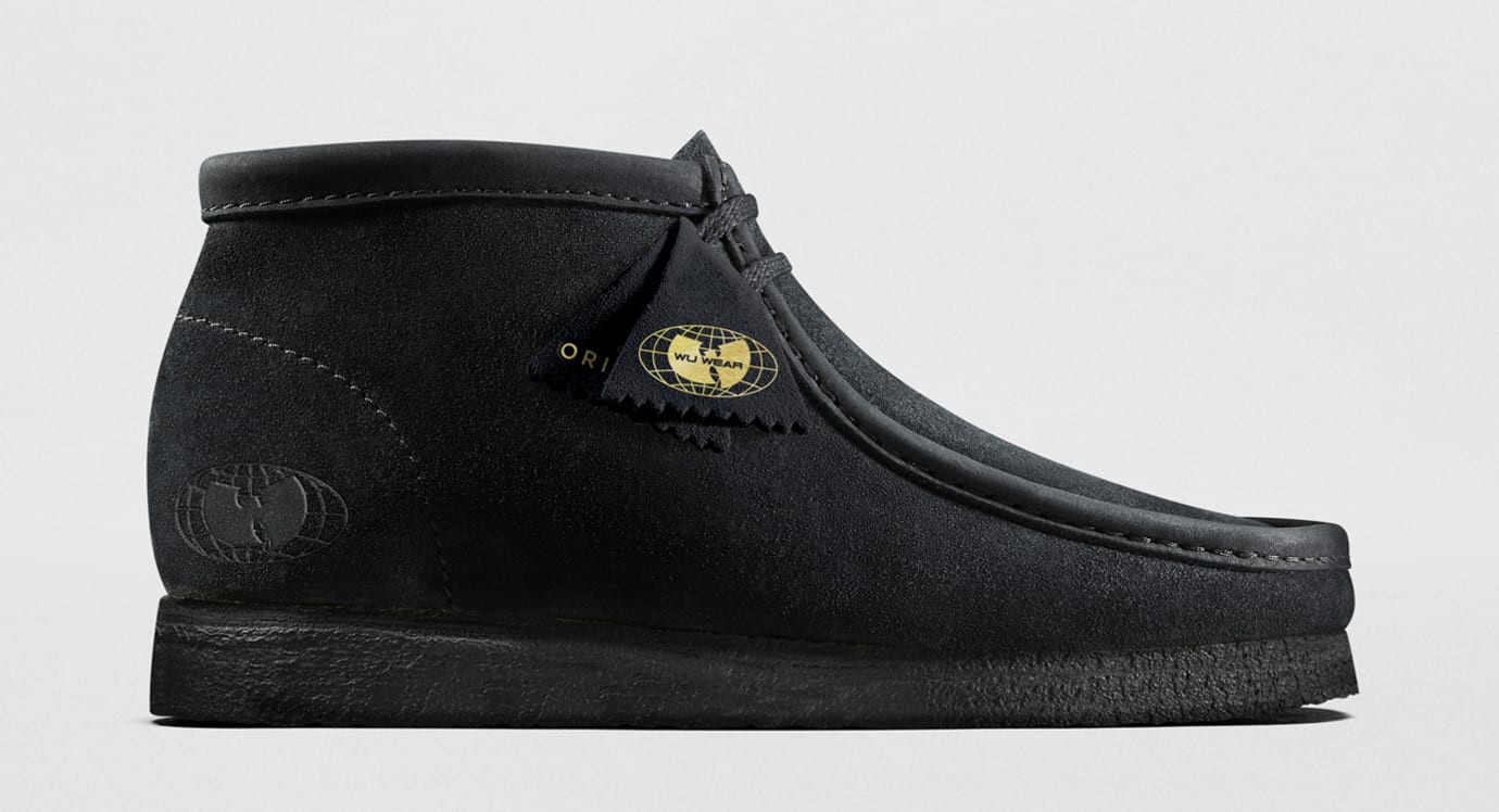 Wu-Wear x Clarks Originals Wallabee Black (Lateral)