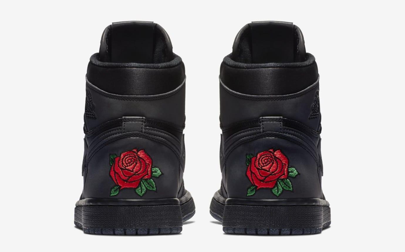 Rox Brown x WMNS Air Jordan 1 'Black/Black/Metallic Gold' BV1576-001 (Heel)