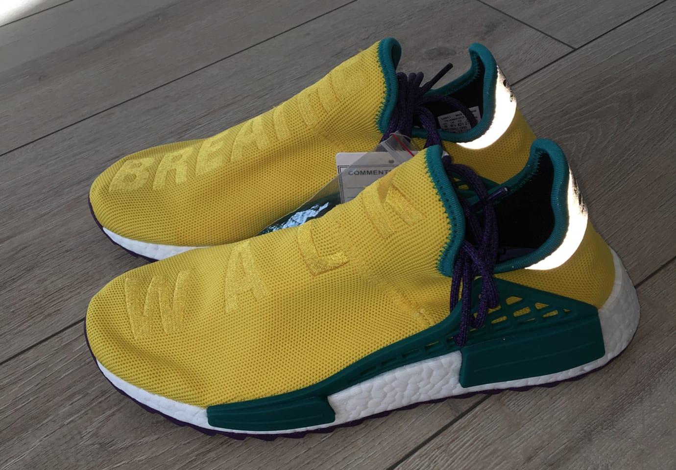 Pharrell x Adidas NMD Hu Breathe Walk Yellow Green Purple 3M