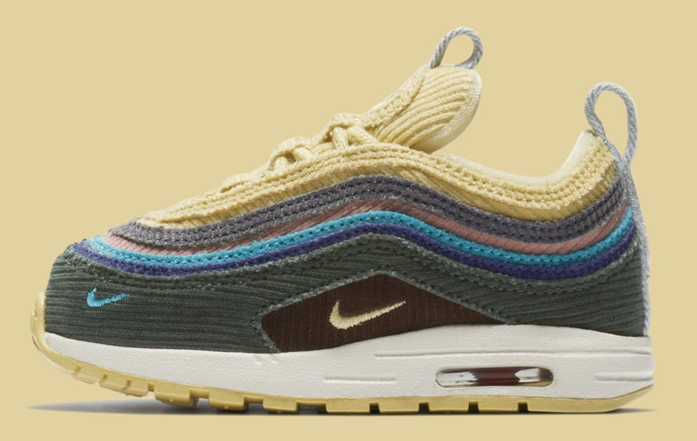 Sean Wotherspoon x Nike Air Max 1/97 Toddler BQ1670-400 (Lateral)