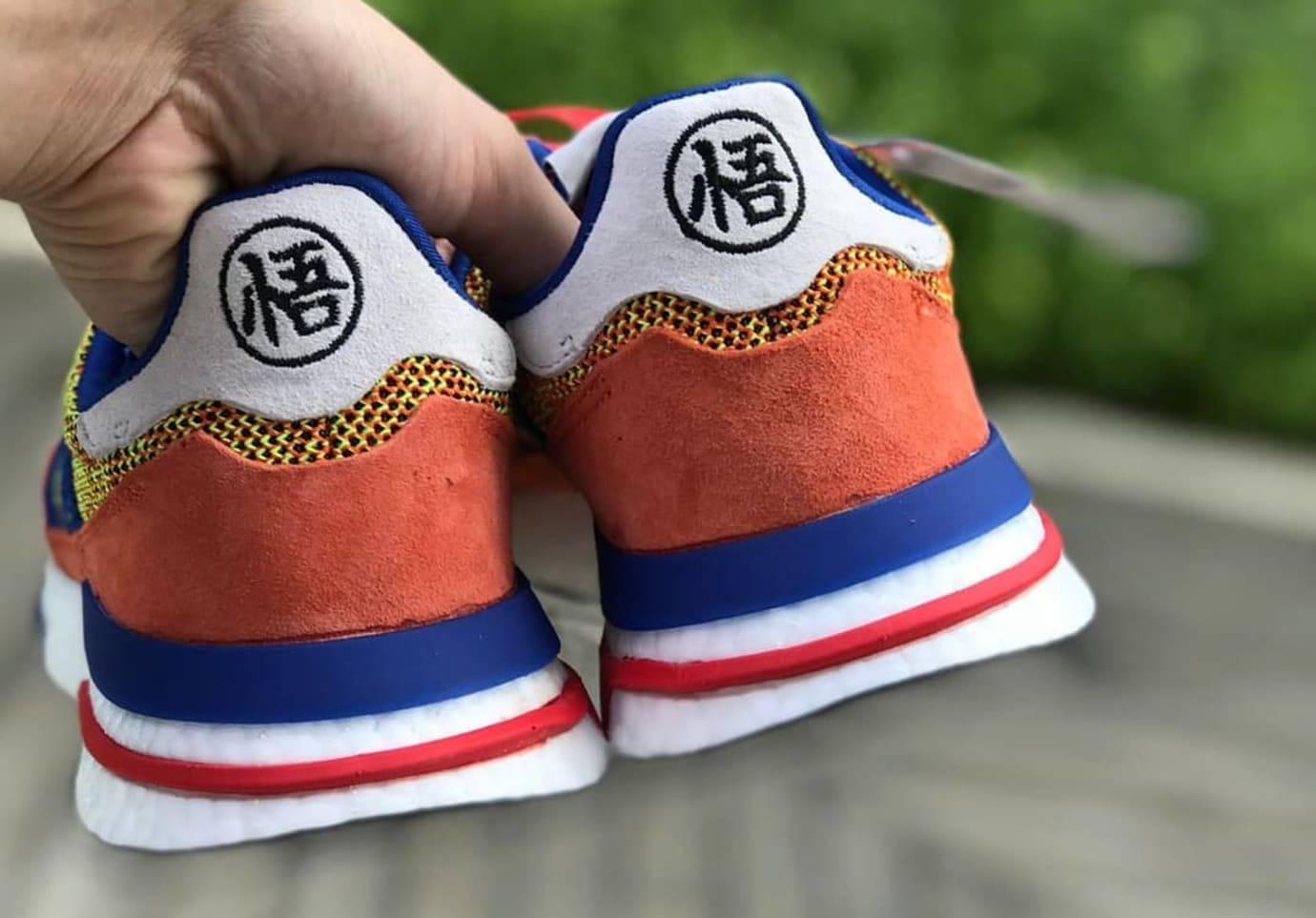 premium selection fe613 68d79 Dragon Ball Z x Adidas ZX500 RM 'Son Goku' First Look | Sole ...