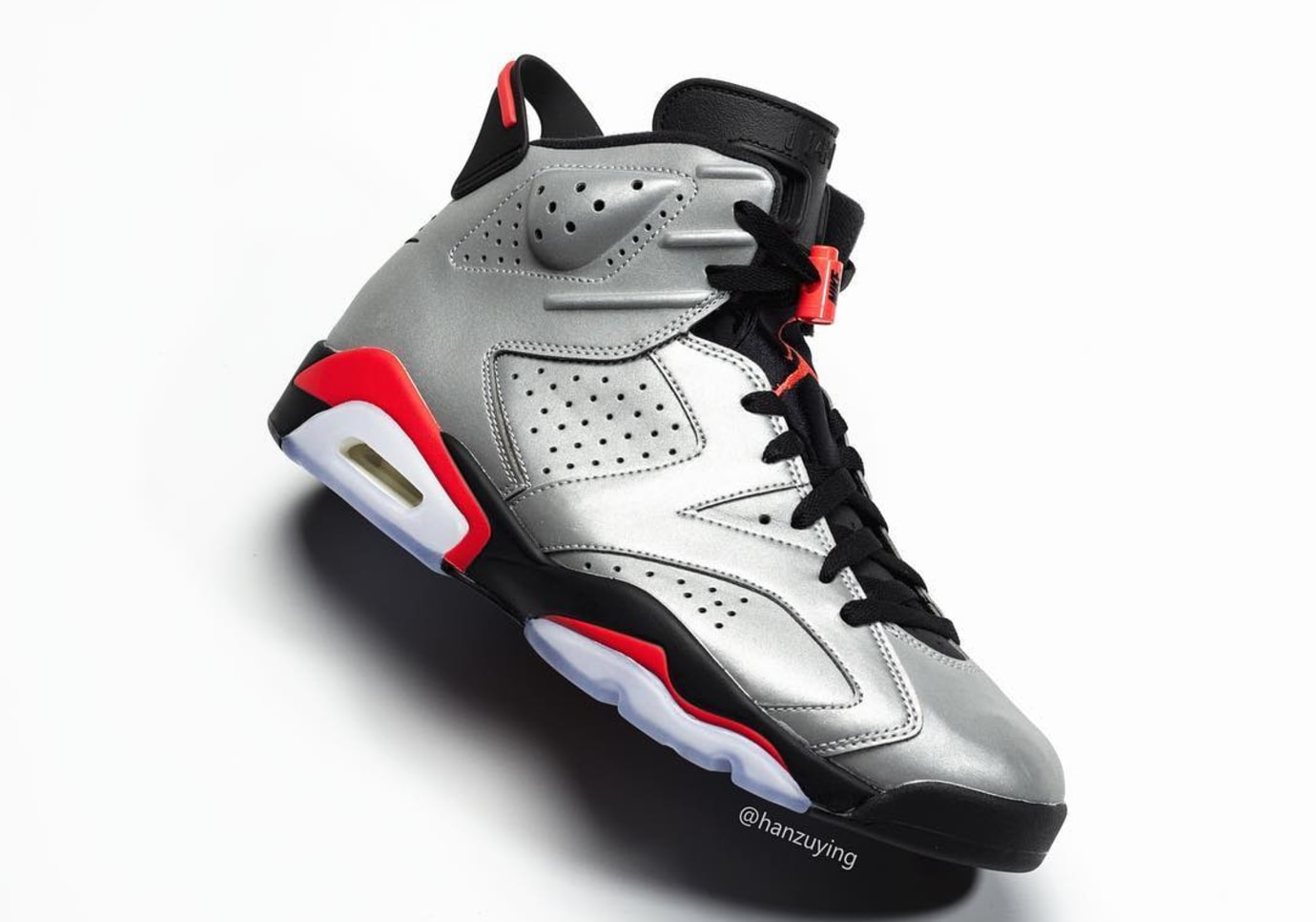 Air Jordan 6 Retro 'Reflective Infrared' CI4072-001-lateral