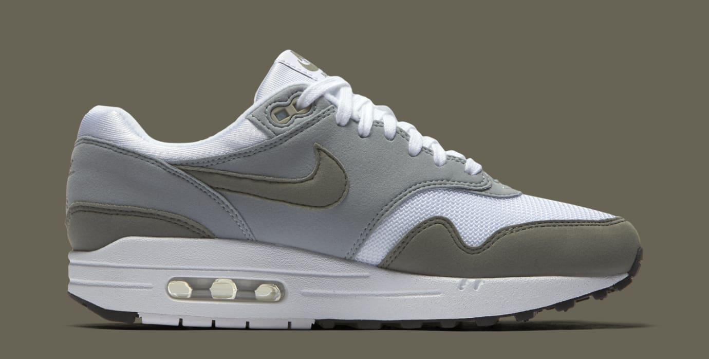aec1e01b5f3 Image via Nike Nike Air Max 1 White Light Pumice Black Dark Stucco  319986-105