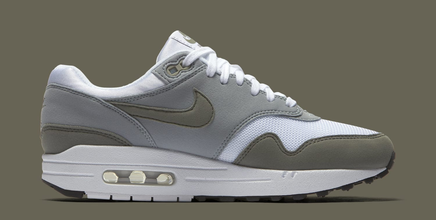 Nike Air Max 1 White/Light Pumice/Black/Dark Stucco 319986-105 (Medial)
