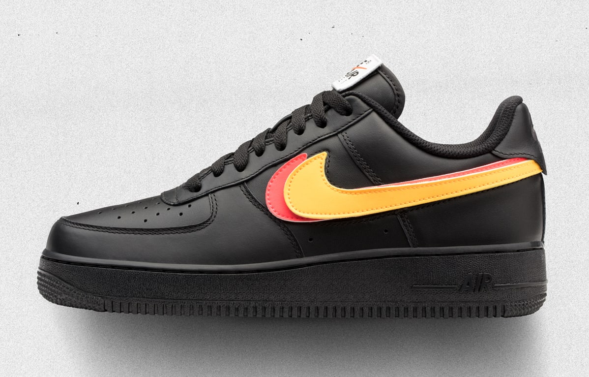 huge discount e9d22 74c72 Image via Nike Nike Air Force 1 Low Swoosh Pack Black Release Date  AH8462-002